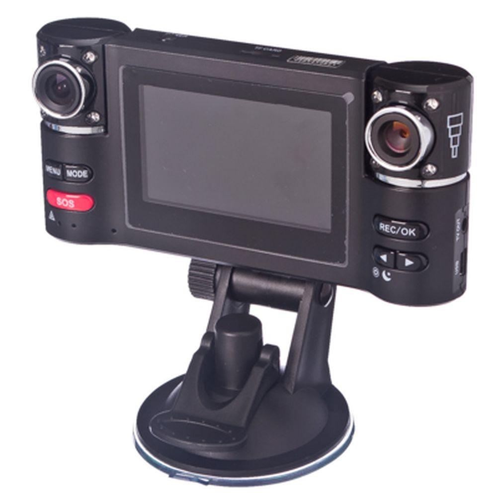 NEW GALAXY Видеорегистратор, 2 поворотные камеры с ИК светодиодами, разреш. 1280x480,640x480