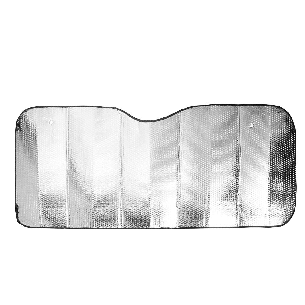 NEW GALAXY Шторка солнцезащитная на лобовое стекло, 130х60см, серебристая, 110035L