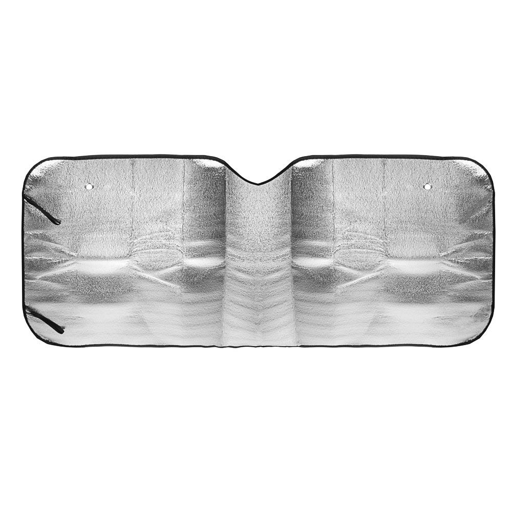 NEW GALAXY Шторка солнцезащитная на лобовое стекло, 130x60см, графитовая, 10033L