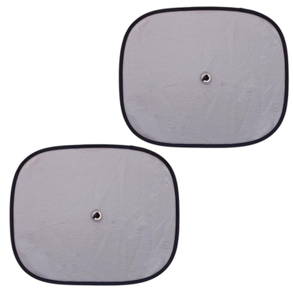 NEW GALAXY Комплект шторок 2шт. на боковое заднее стекло на присоске 44х36см, серые, 110052SL