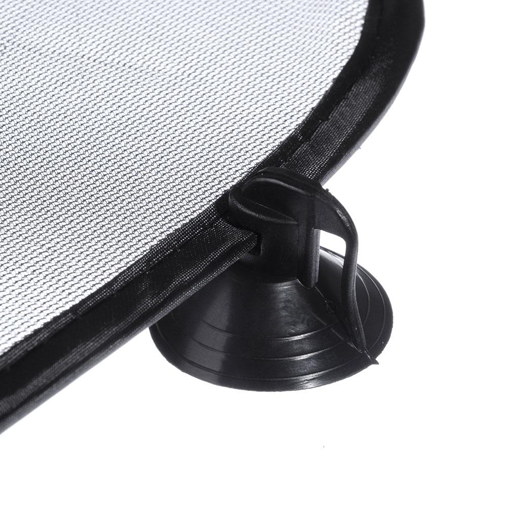 NEW GALAXY Комплект шторок 2шт. на боковое заднее стекло на присосках, 44x36см, черные