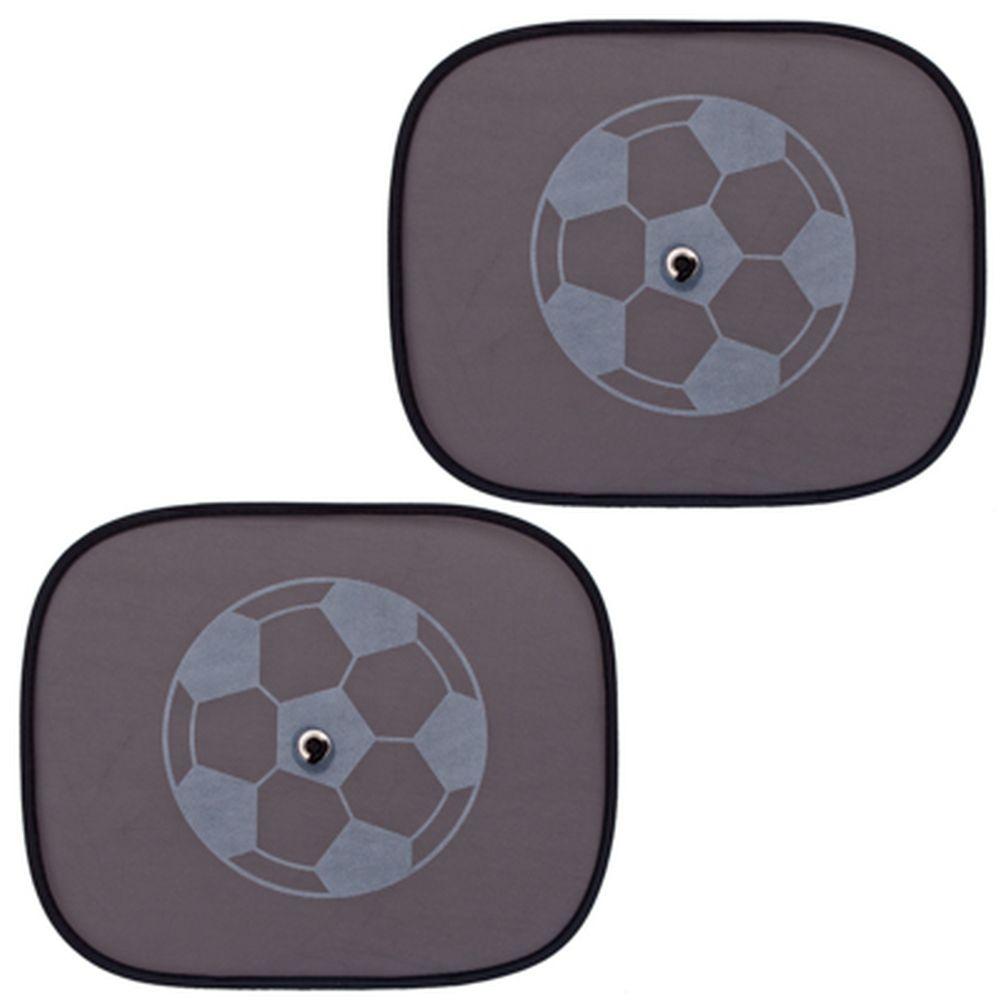 """NEW GALAXY Комплект шторок 2шт. на боковое заднее стекло на присоске 44х36см черные""""Футб. Мяч"""", 1241"""
