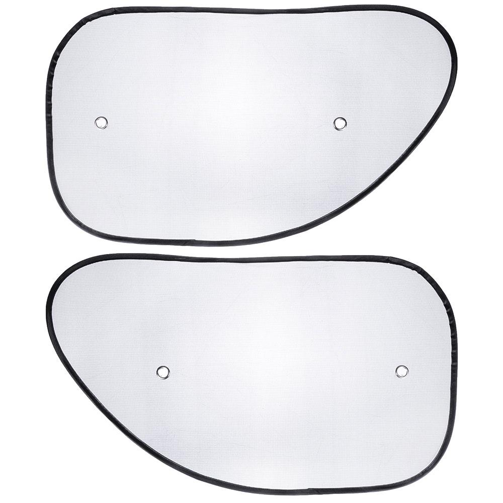 NEW GALAXY Комплект шторок 2шт. на боковое переднее стекло на присоске 65x38см черные, 110026BK