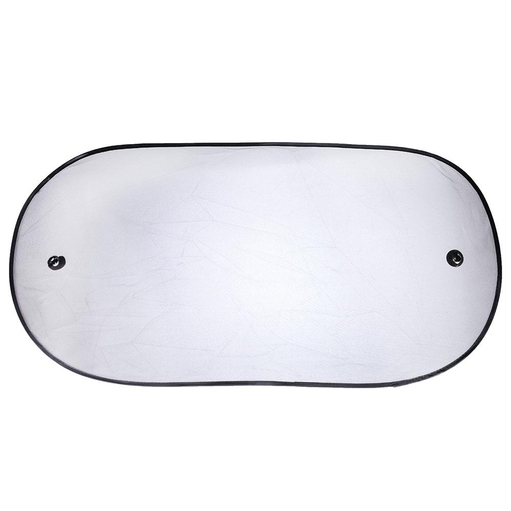 NEW GALAXY Шторка солнцезащитная на заднее стекло на присоске 100x50см, черная, 110078