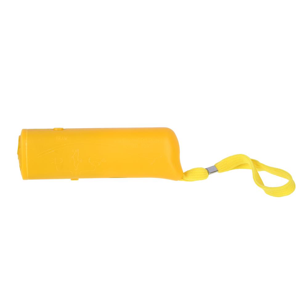 INBLOOM Отпугиватель собак ультразвуковой с фонарем, радиус 10м, 13х4х2,5см, 1х9В/9V в компл