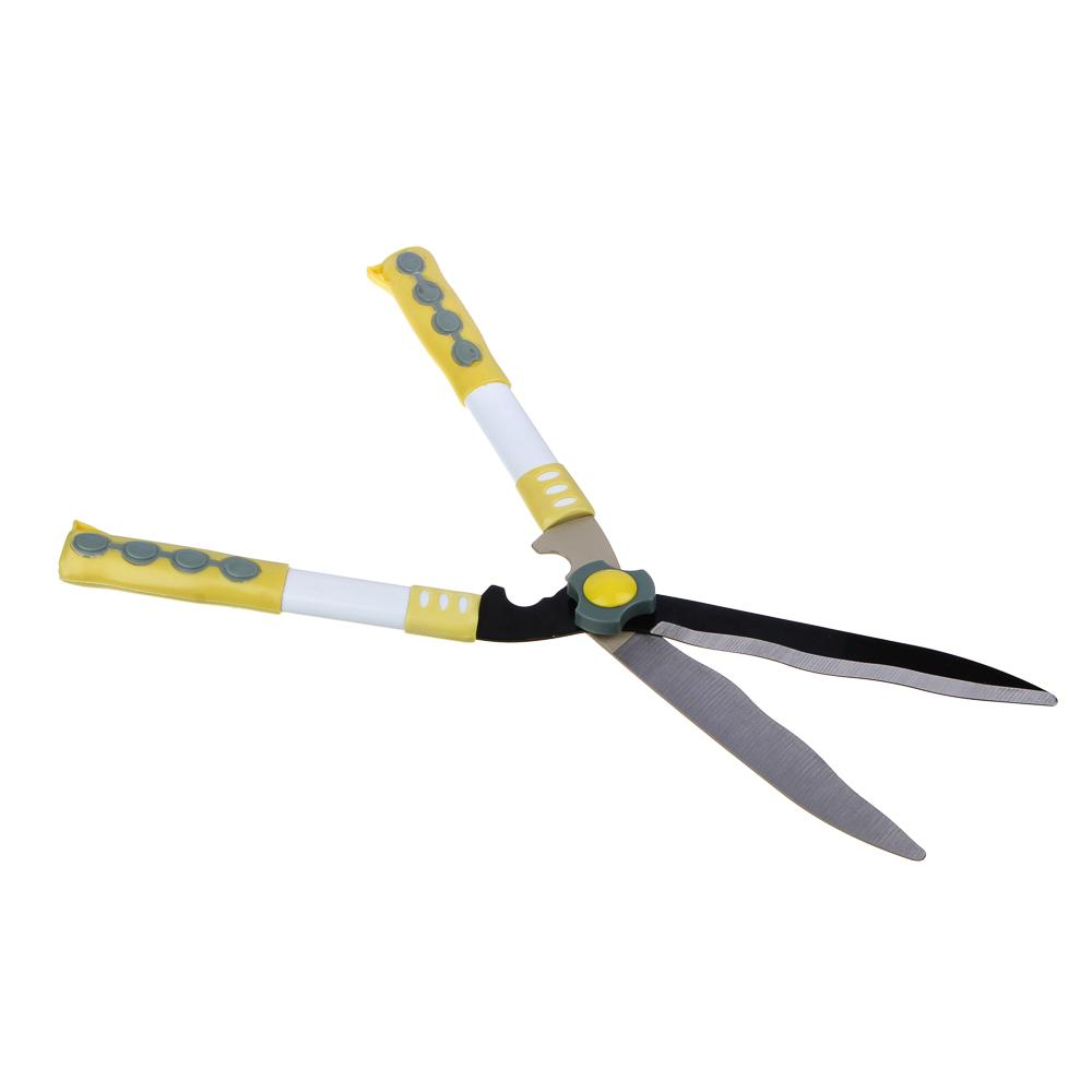 Кусторез, волнистые лезвия, оксид.сталь, пластиковые ручки, 480 мм, 4х15х50, INBLOOM