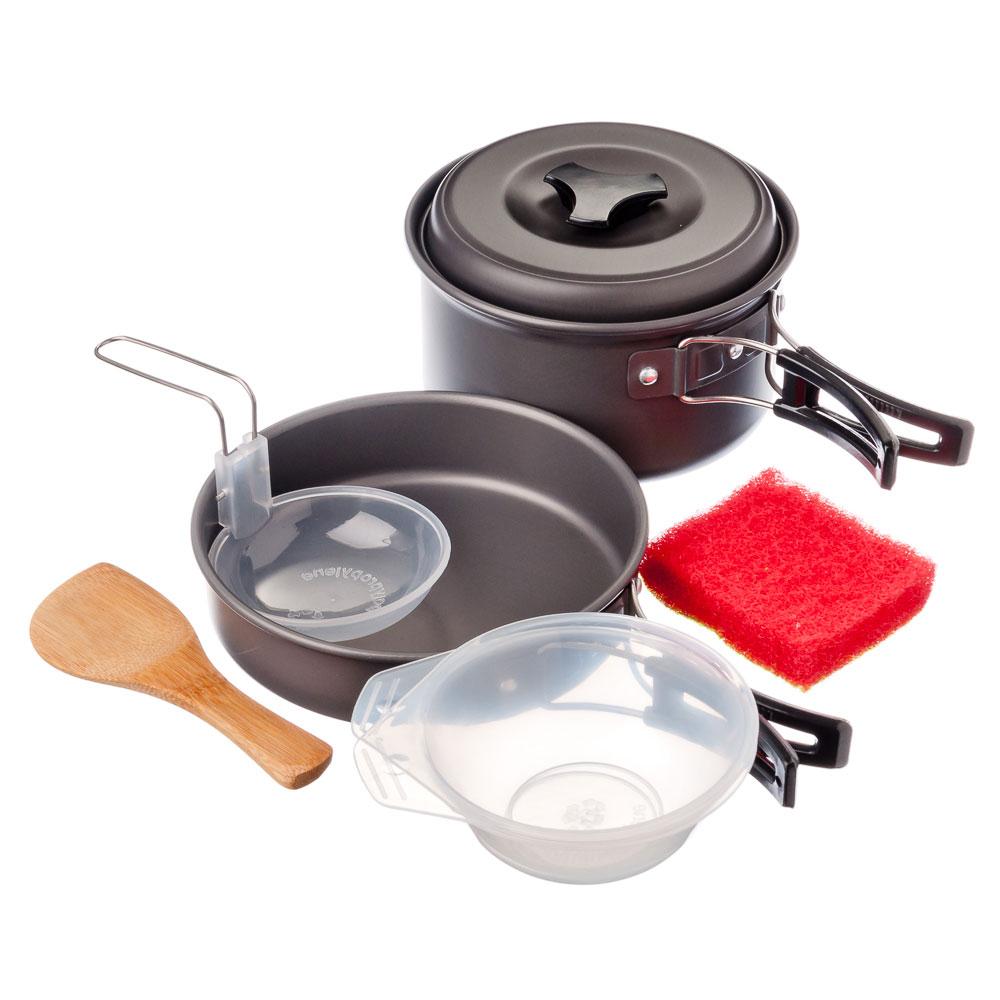 ЧИНГИСХАН Набор посуды 7 пр., алюминий, пластик, для 2-х персон, в чехле, RH3084