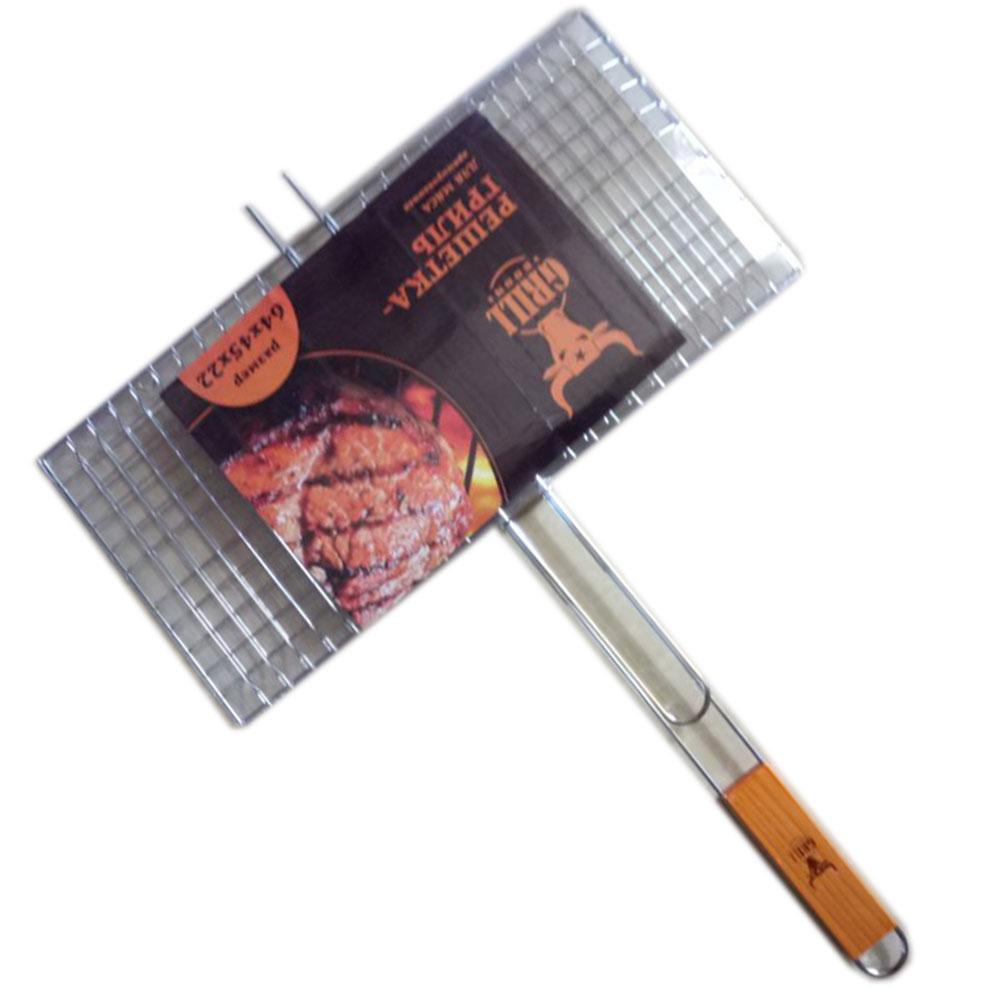 Решетка-гриль хромированная 64х(45х22) см, GRILLBOOM