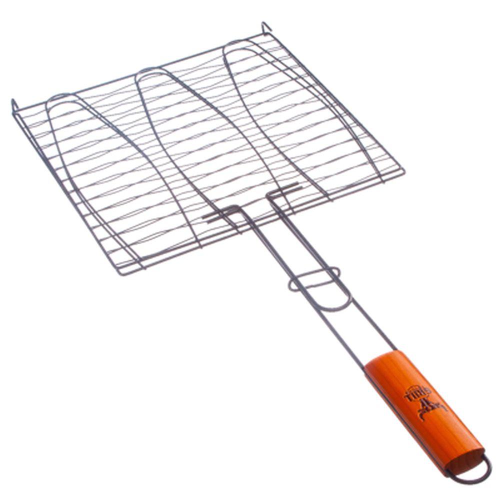 GRILLBOOM Решетка-гриль для рыбы, углеродистая сталь, 61,5х28х28см, антипригарная