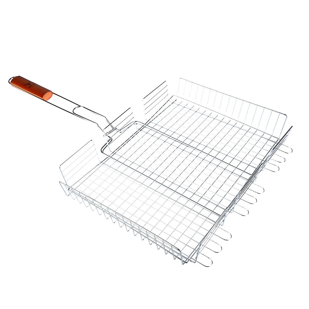 Решетка-гриль хромированная 70х(30х40х5) см, GRILLBOOM