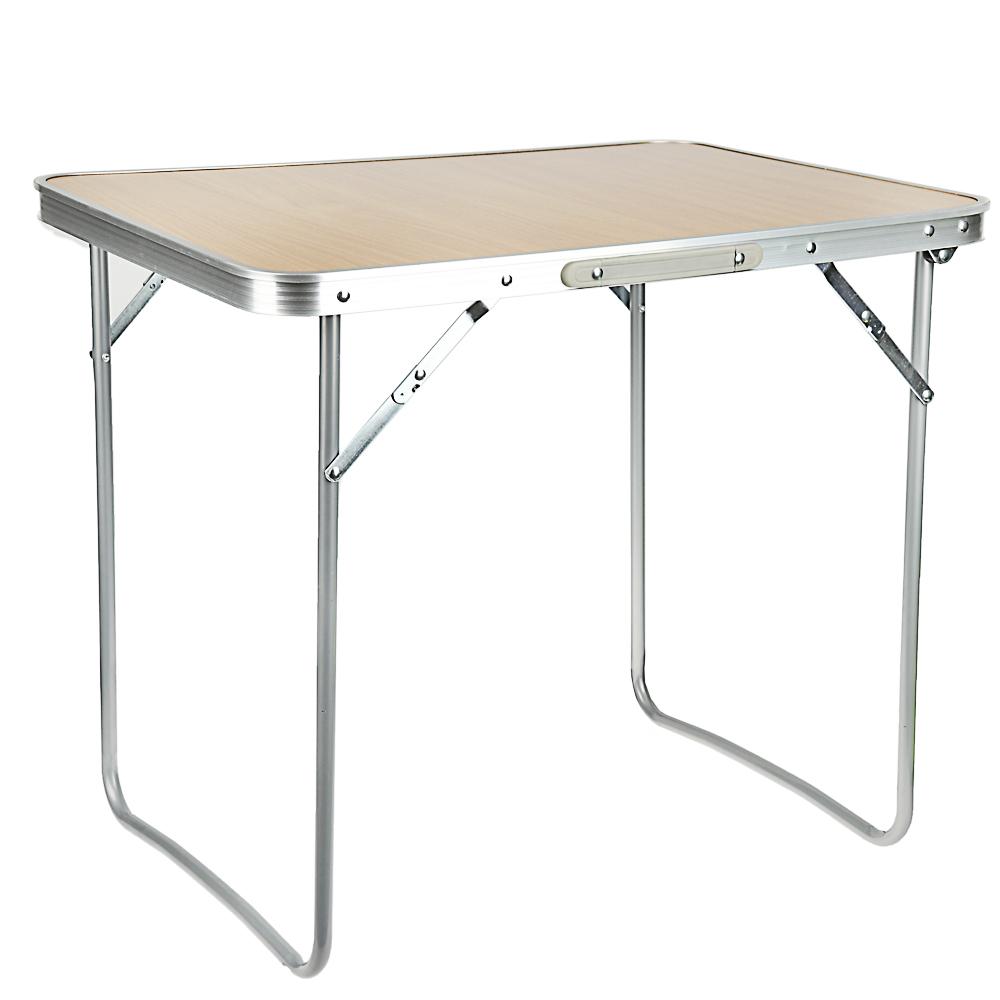 Стол кемпинговый складной ЧИНГИСХАН 50х70х60см, алюминий, МДФ, СНО-8815