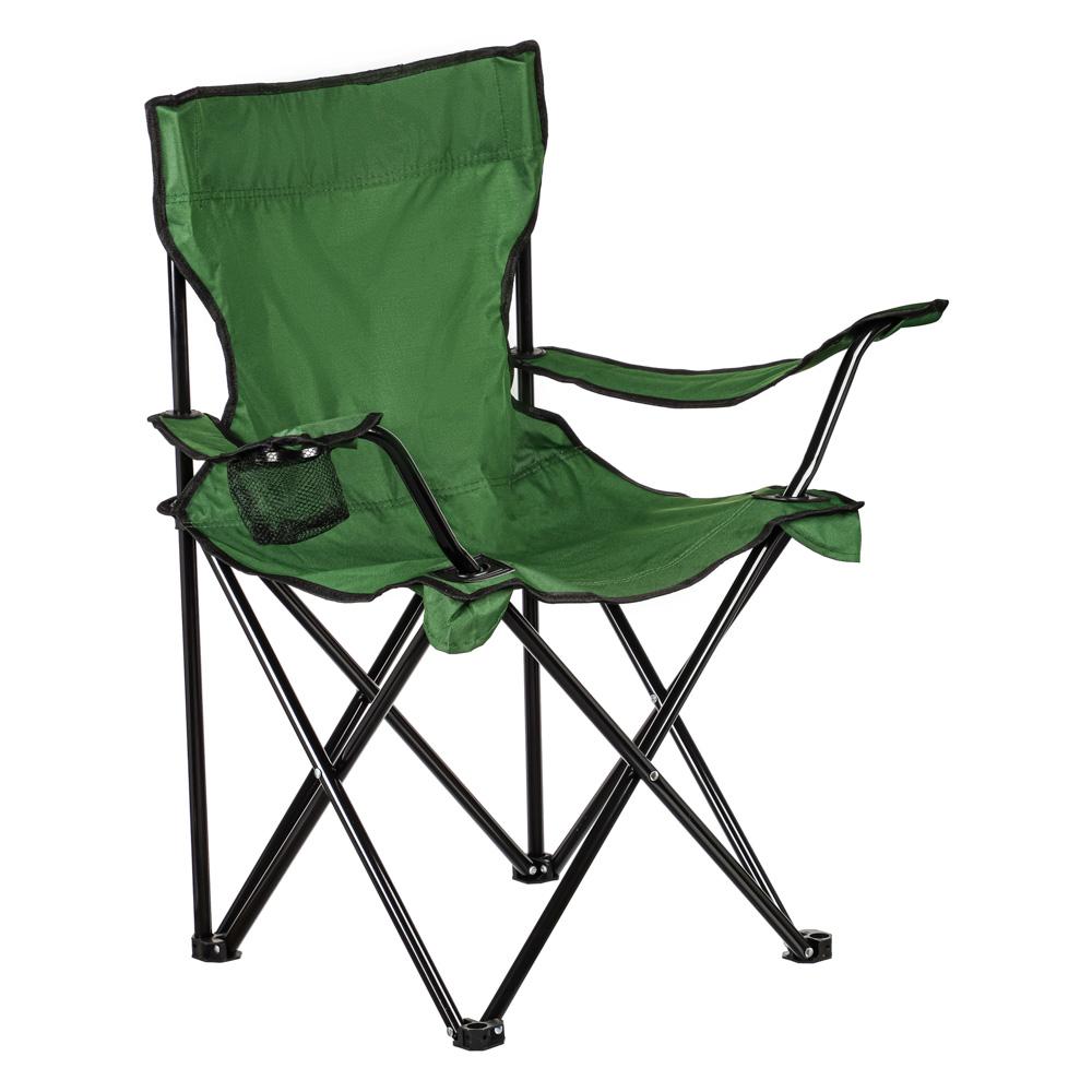 Кресло складное ЧИНГИСХАН подлокотники, подстаканник, 50х50х82см, сталь d16мм, цвет камуфляж, 107А