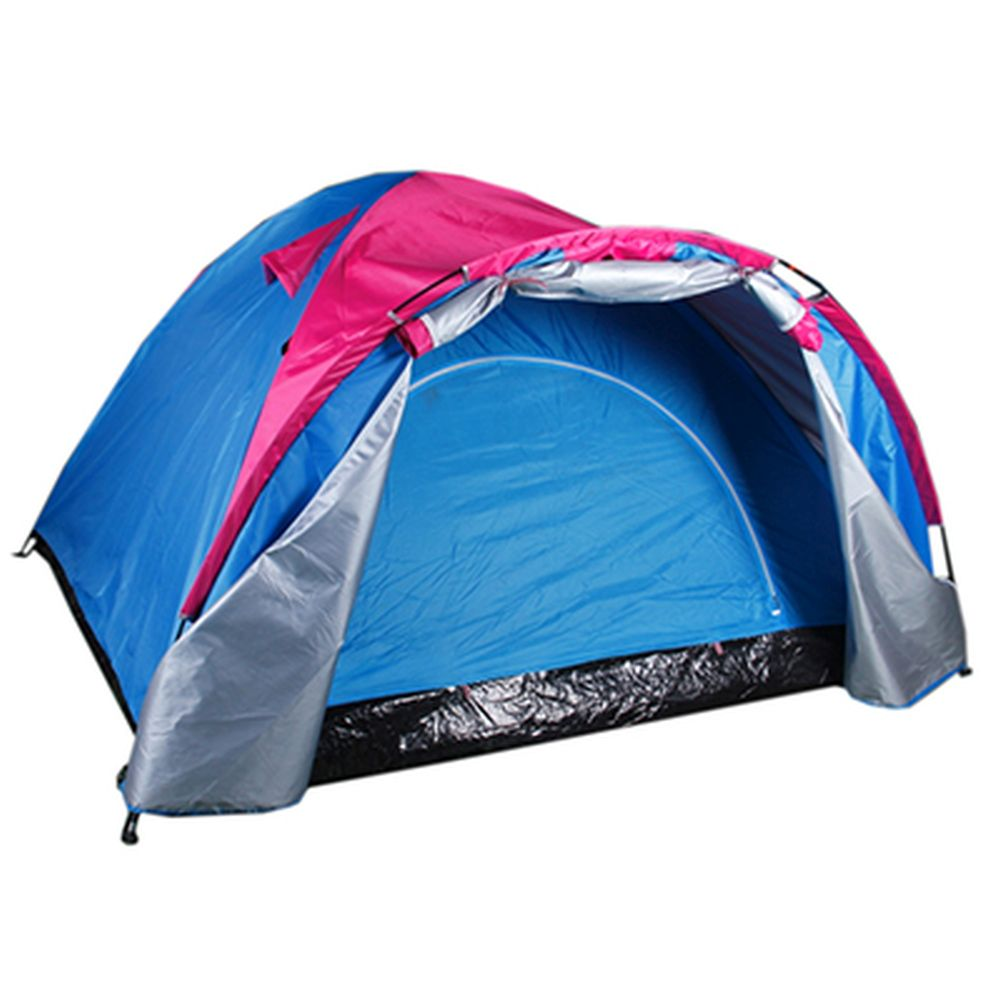 ЧИНГИСХАН Палатка 3-местная, 2сл., 200х200х135см, нейлон 170T, тамбур, LS-041