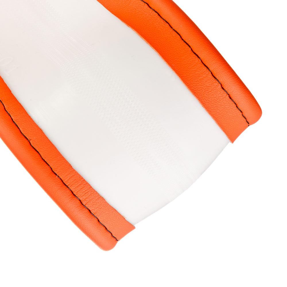 NEW GALAXY Оплетка руля, экокожа, оранжевый, разм. (М)
