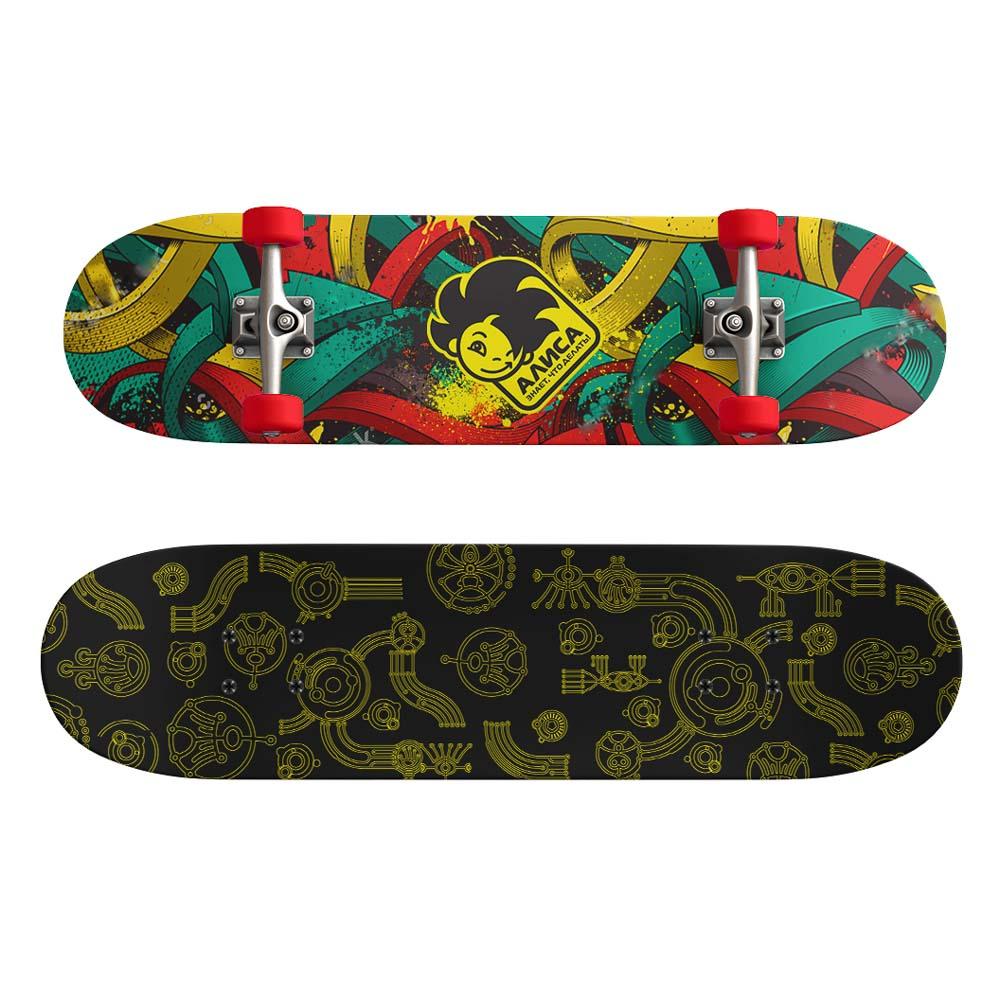 Скейтборд, 43х13 см, Р173, пласт.крепеж, 5030 PVC, макс.нагрузка 30 кг, SILAPRO