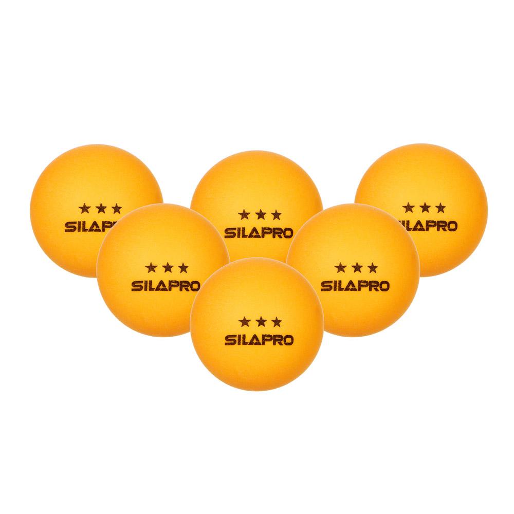 Набор мячей для тенниса, 6 шт, целлулоид, SILAPRO