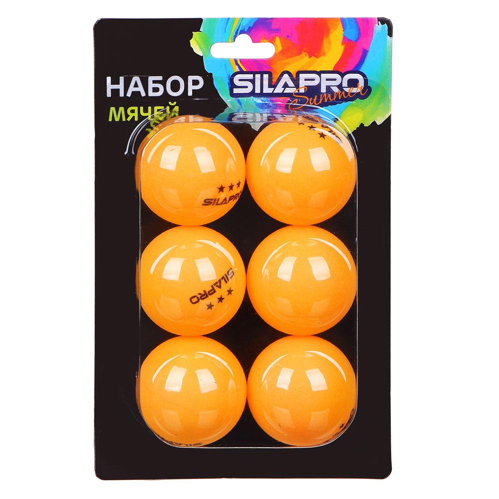 Набор мячей для тенниса SILAPRO, 6 шт.