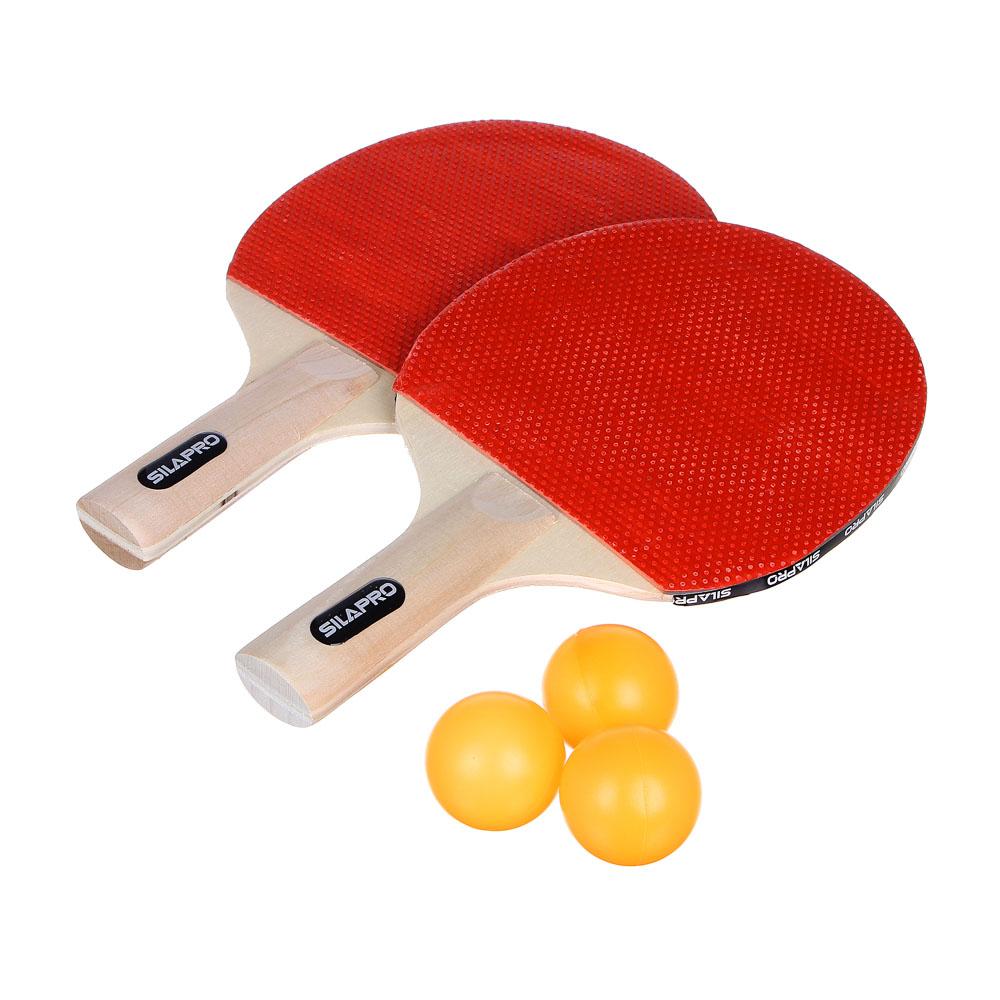 Набор для тенниса: ракетка 2 шт, теннисный мяч 3 шт, дерево, 2026