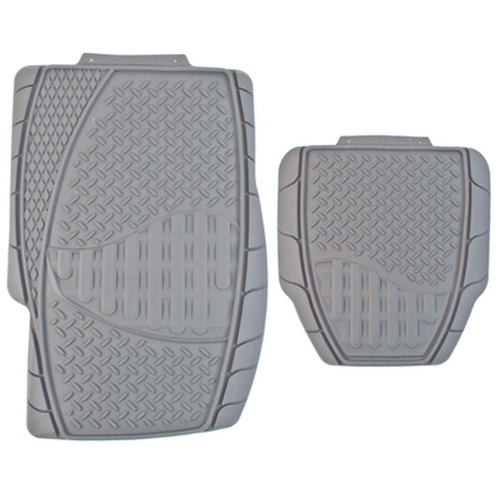 NEW GALAXY Набор ковров термопласт 4шт, универсальные, серые Dust