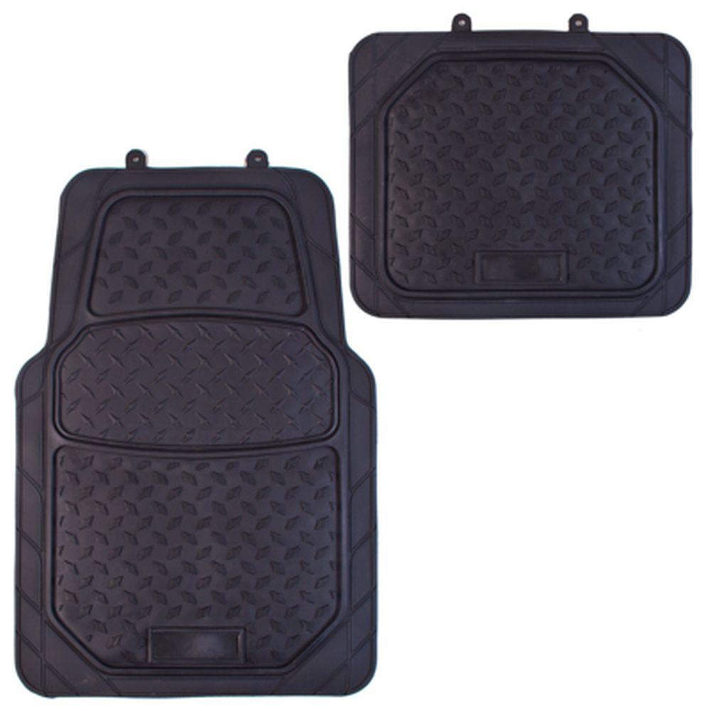NEW GALAXY Набор ковров ПВХ 4шт, универс, черные, передние 76x50см, задние 50х50cм Slot