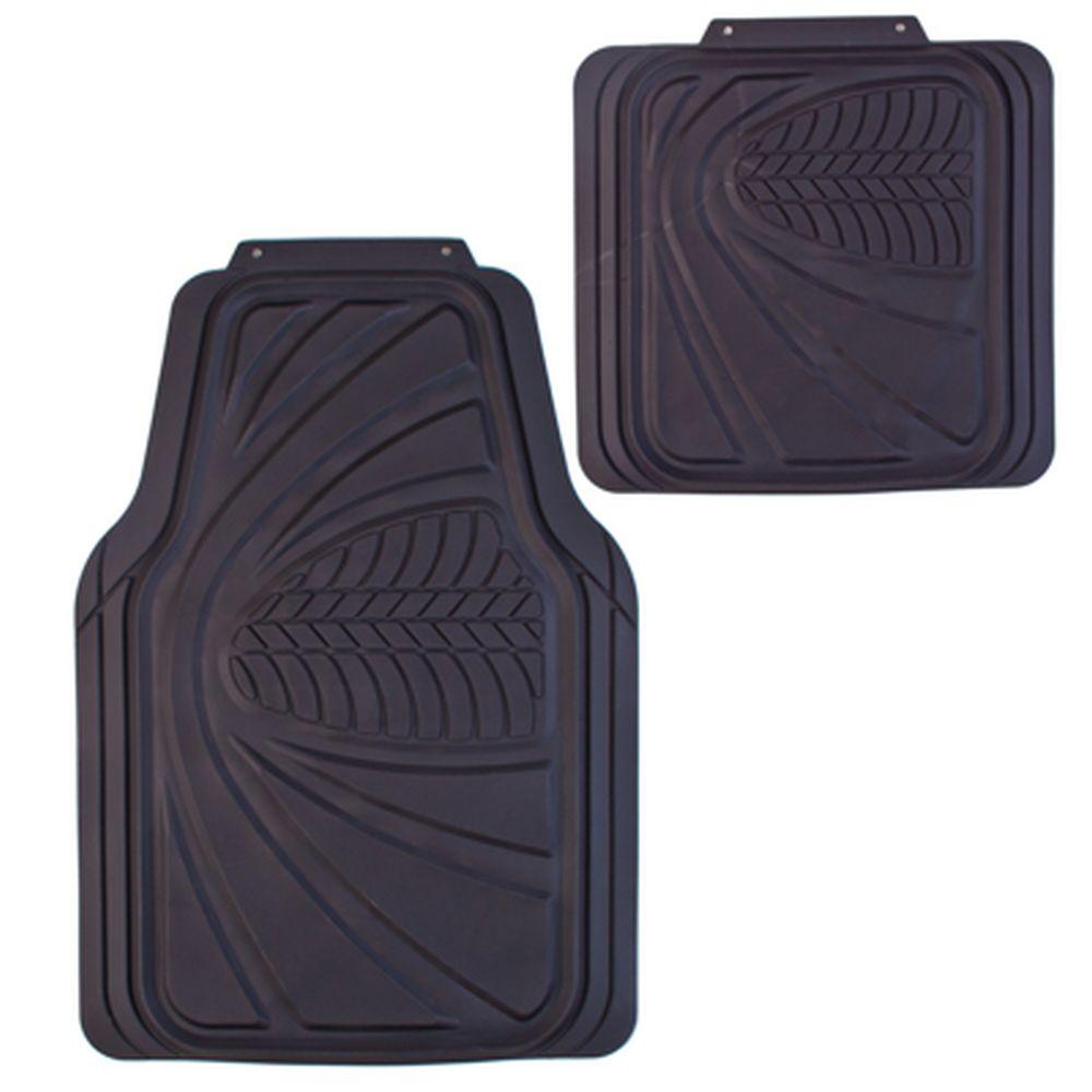 NEW GALAXY Набор ковров с бортом ПВХ 4шт, универс, черные, передние 68x48см, задние 45х42cм Claw