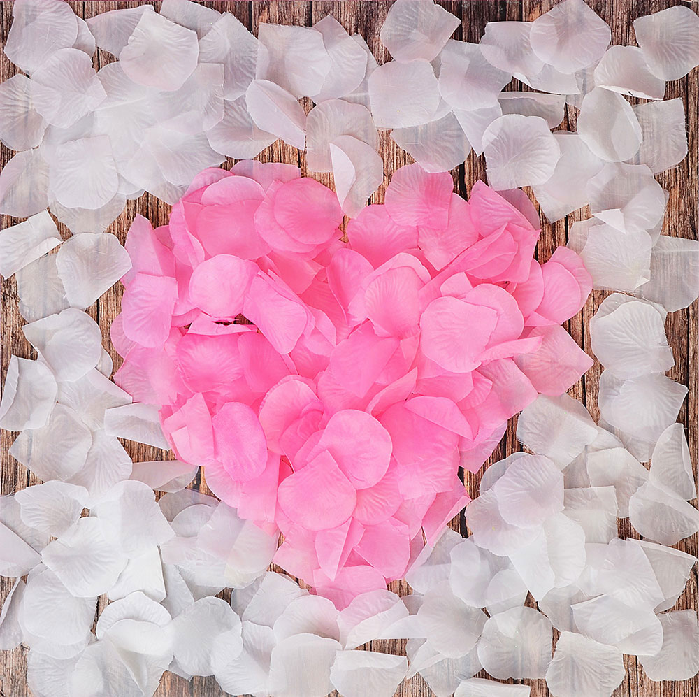 "Лепестки роз ""Розовые"", полиэстер, 30гр, 150шт"