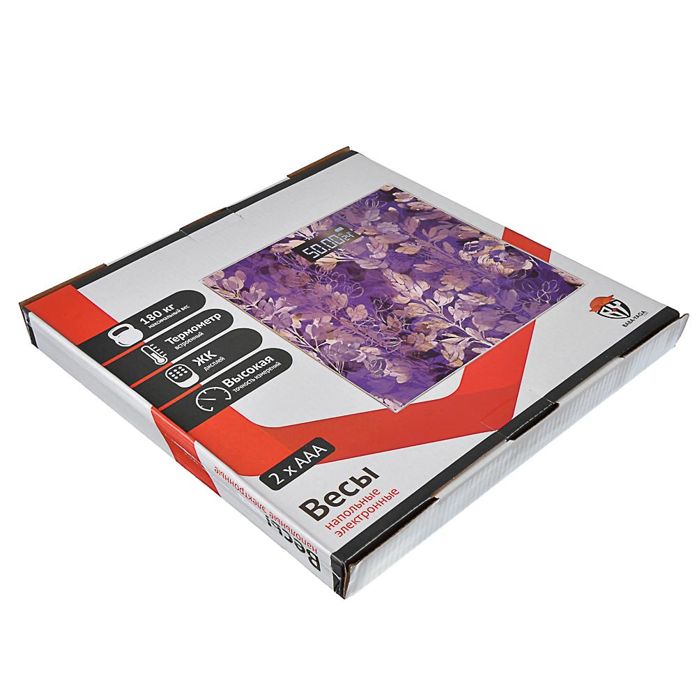 Весы напольные электронные до 180 кг, ЖК-дисплей, VS-041