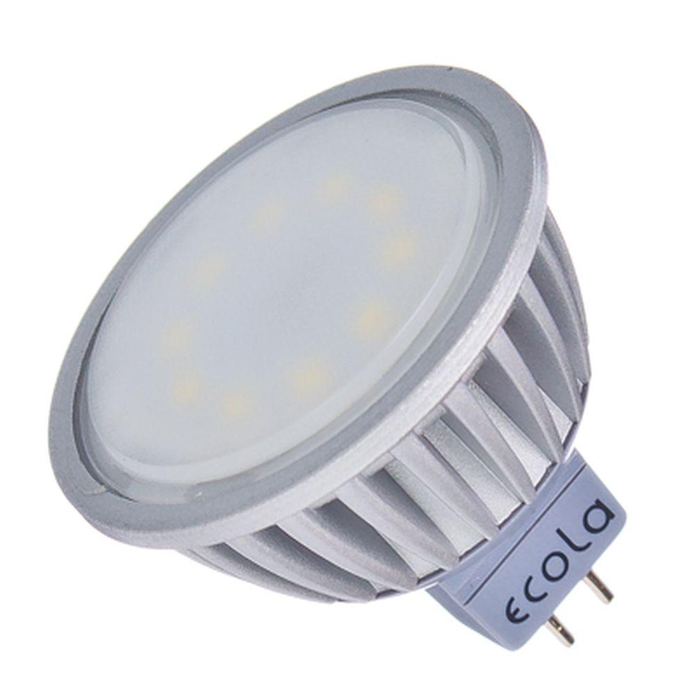 ECOLA Лампа светодиодная MR16 GU5.3 220V 5.4W 4200 47x50, матовое стекло, M2LV54ELC