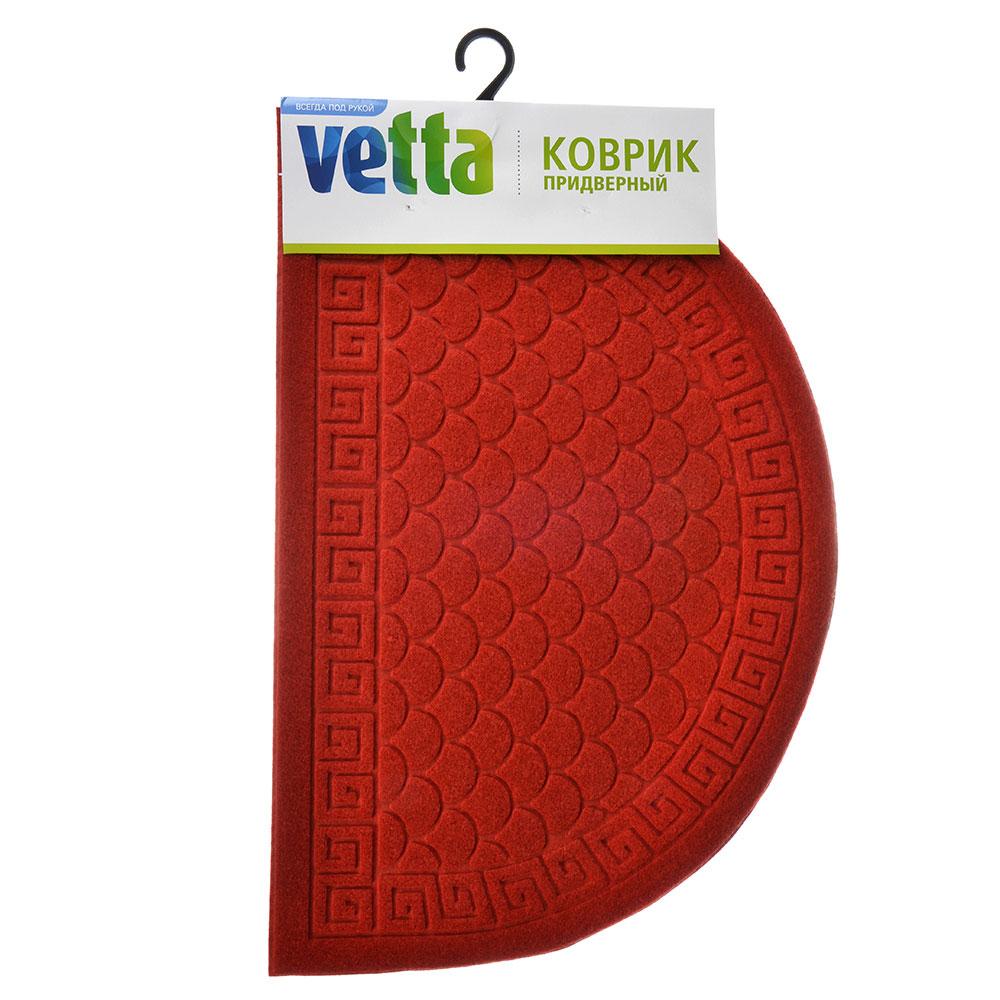 """VETTA Коврик придверный с ворсовой поверхностью, 40х60см, эконом """"Узор"""", 4 цвета"""