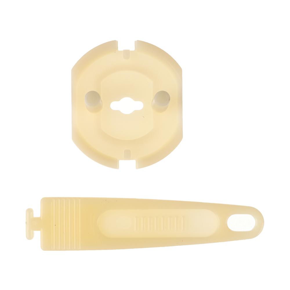 Заглушки для электрических розеток с держателем 4шт., пластик, d3,2х2,2см