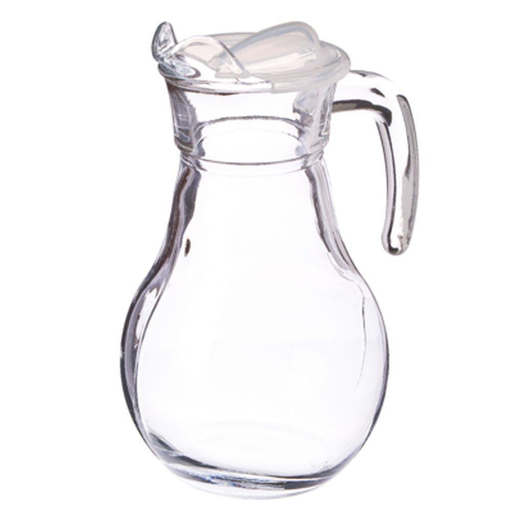 """PASABAHCE Кувшин 1000мл, с прозр. пластиковой крышкой, """"Bistro"""", стекло, 43944B"""