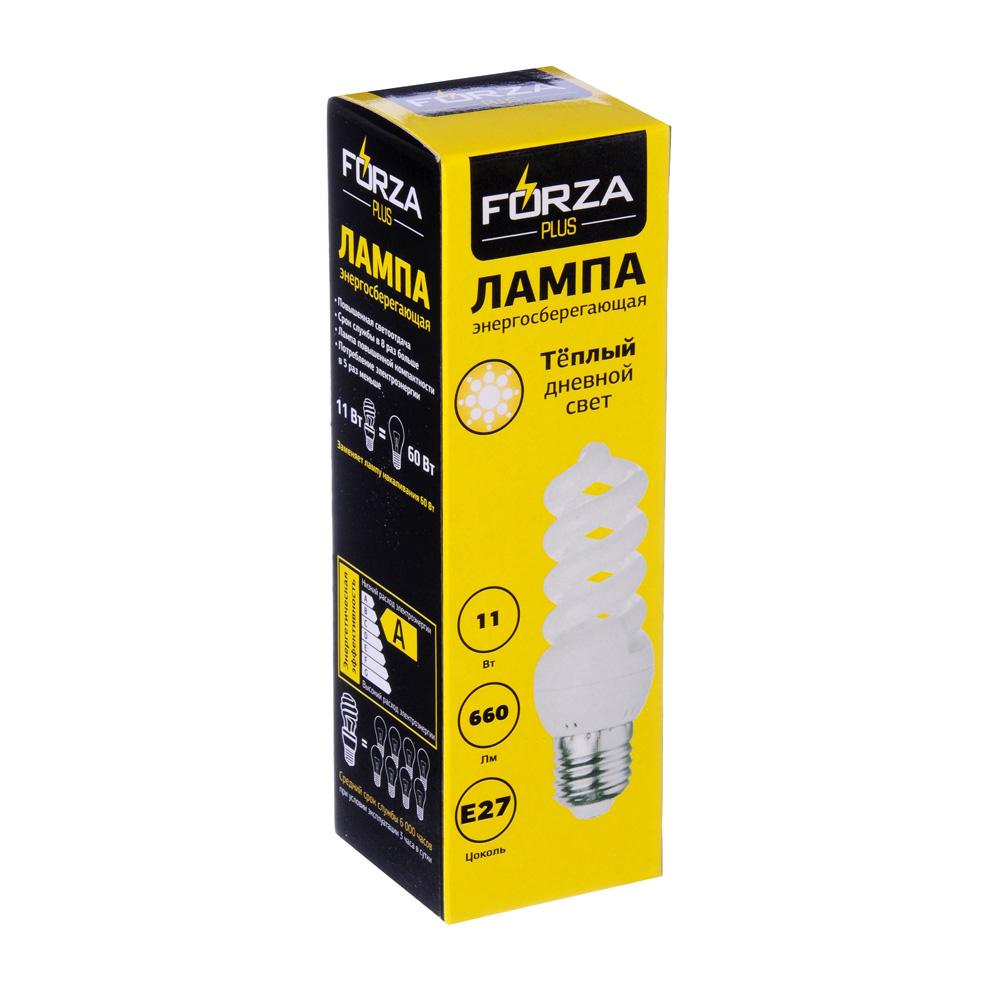 FORZA Лампа энергосберегающая E27 11W 2700K полн.спираль