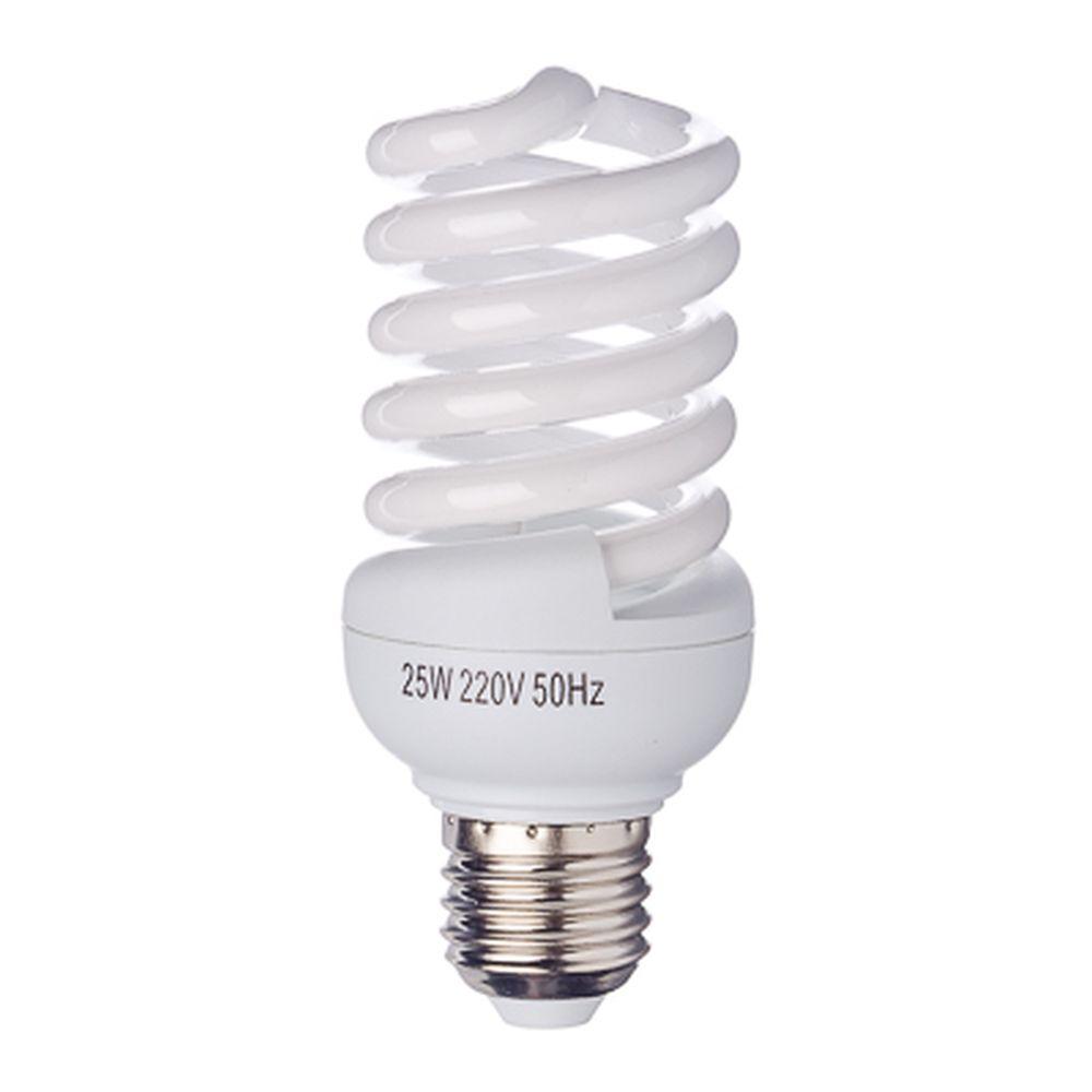 FORZA Лампа энергосберегающая E27 25W 2700K полн.спираль, трубка Т2
