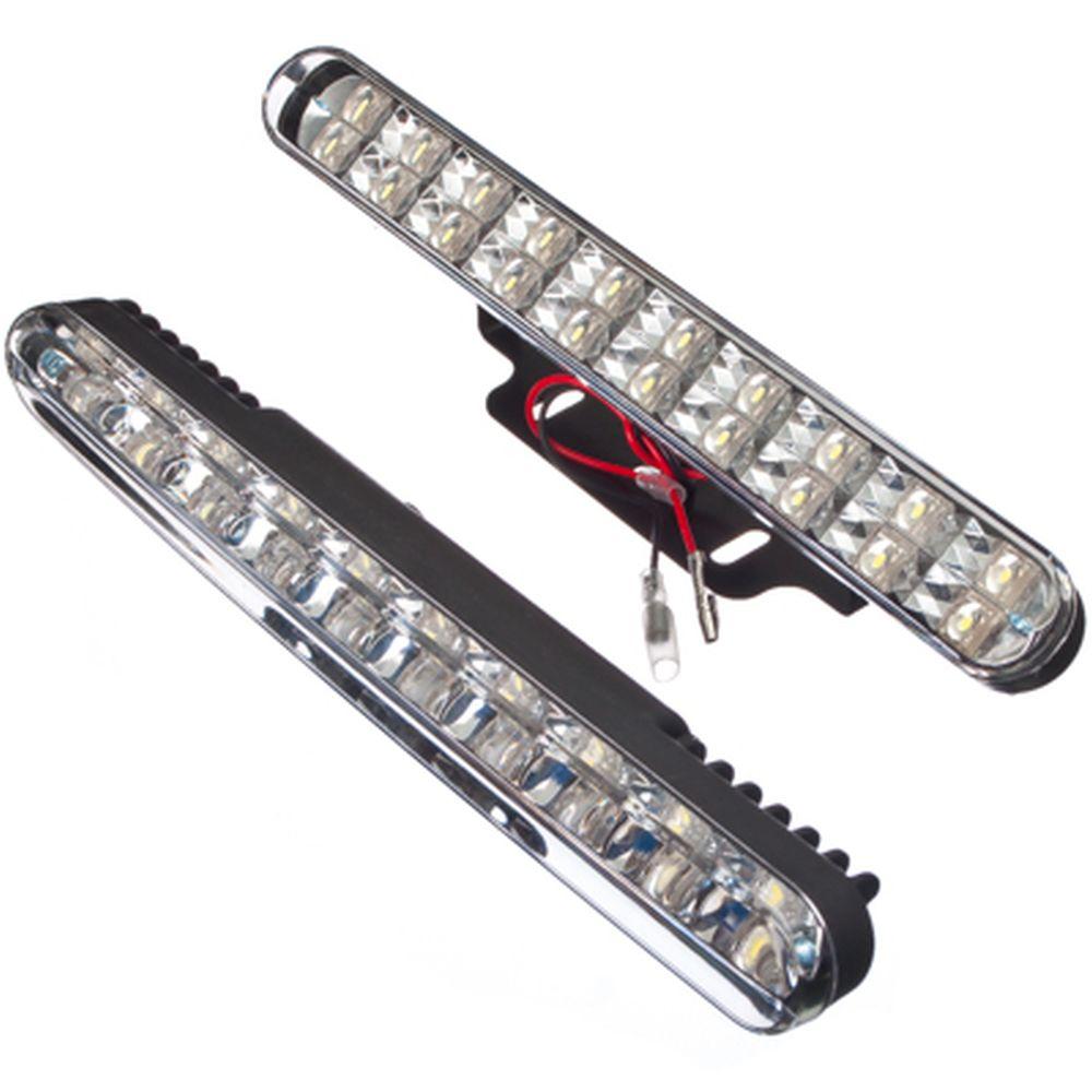 NEW GALAXY Дневные ходовые огни LED, белый свет, пласт корп, 20 ламп, 220х25мм, компл 2шт, Urban