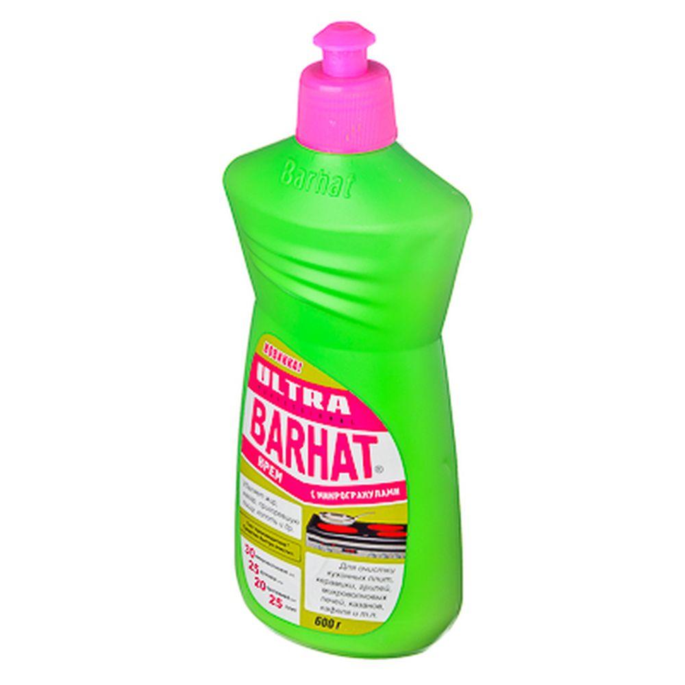 Ультра Бархат Крем чистящий с микрогранулами для чистки плит,микроволн,духовок,кафеля, п/б 600гр,303