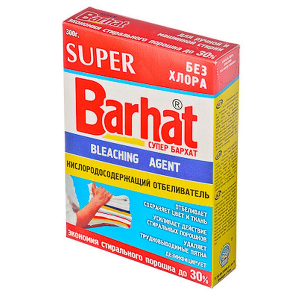 Super Бархат Отбеливатель кислородосодержащий порошкообразный, без хлора, к/у 300гр, арт.SБ-1101