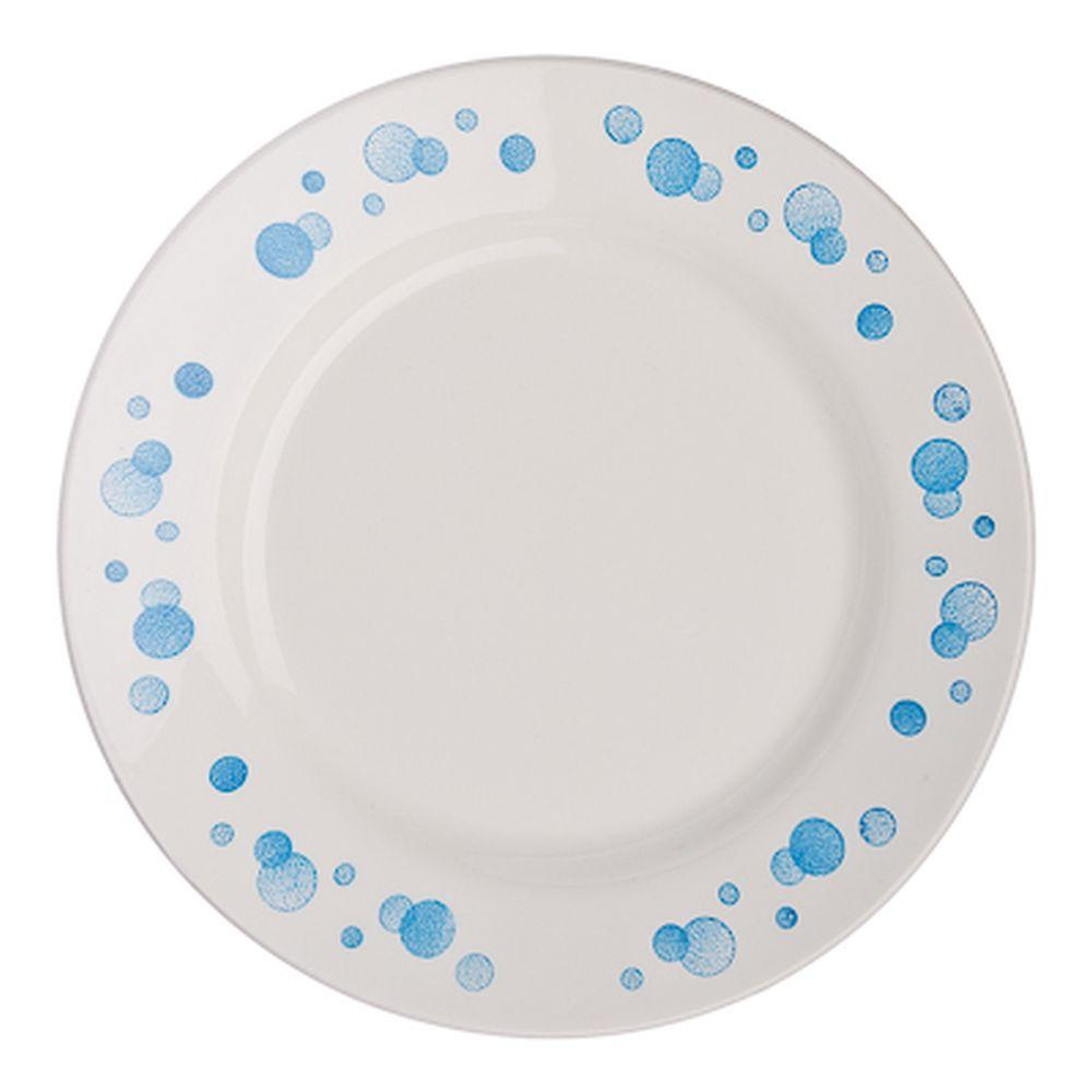 """Тарелка десертная d.17,5 см, фаянс, """"Синий горох"""""""