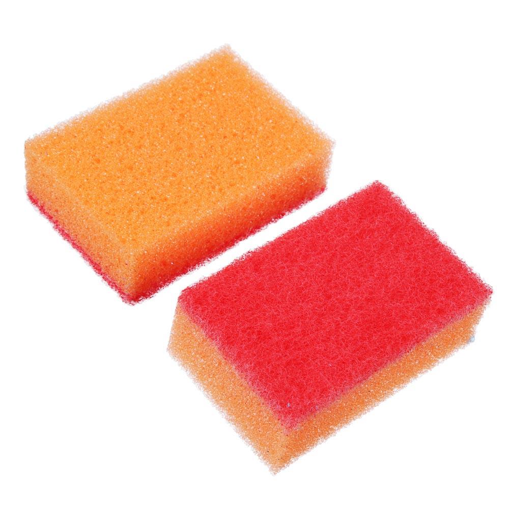 """Набор губок для мытья посуды 10 шт, 8х5х2,5 см, VETTA """"Прима"""""""