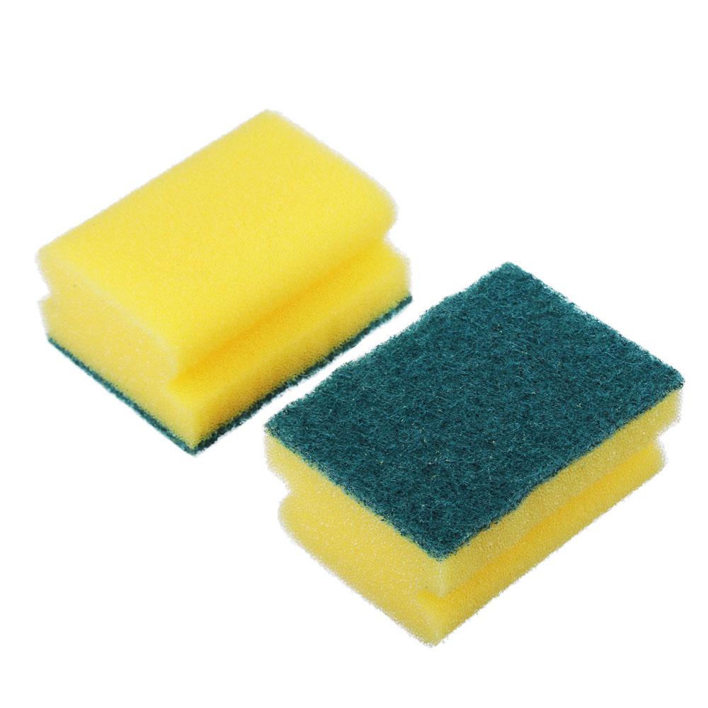 """Набор губок для мытья посуды 2 шт, 8,5х6,5х4,3 см, VETTA """"Профи"""""""