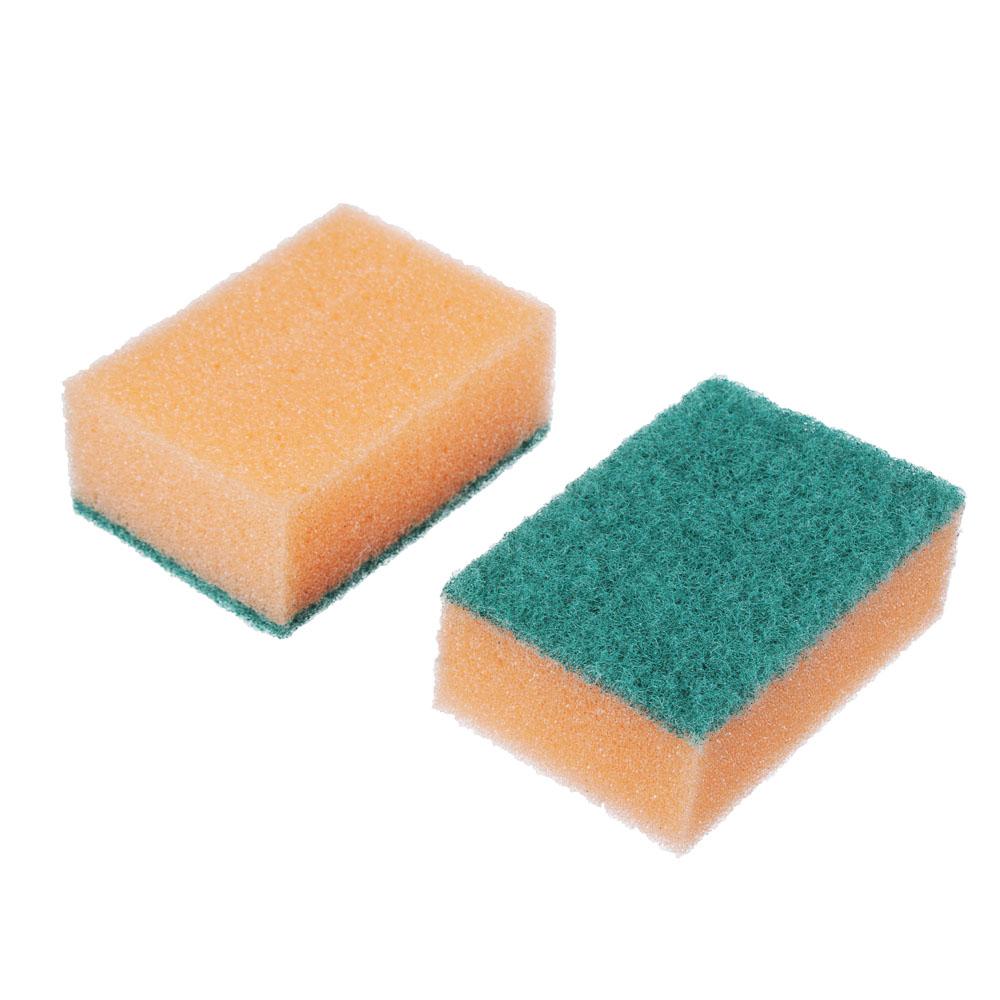 "Набор губок для мытья посуды 7 шт, 9х6х3,5 см, VETTA ""Эконом"""