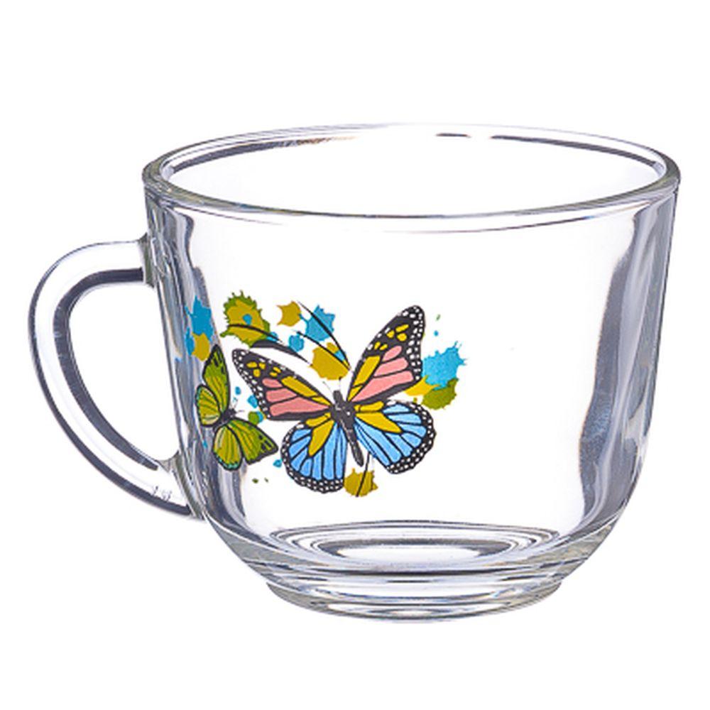 """ОСЗ Кружка стеклянная, 200мл, """"Танец бабочек"""", 07с1337"""