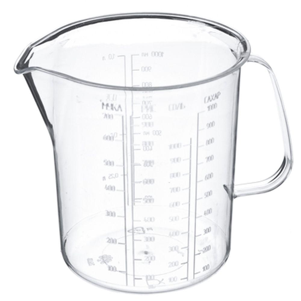 Кружка мерная пластик, 1,0л, арт.116, Полимербыт