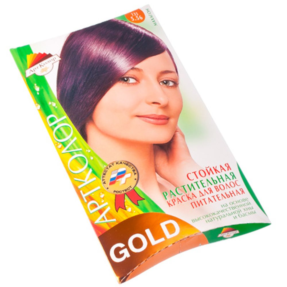 "Gold Краска для волос ""Махагон"", 25гр"