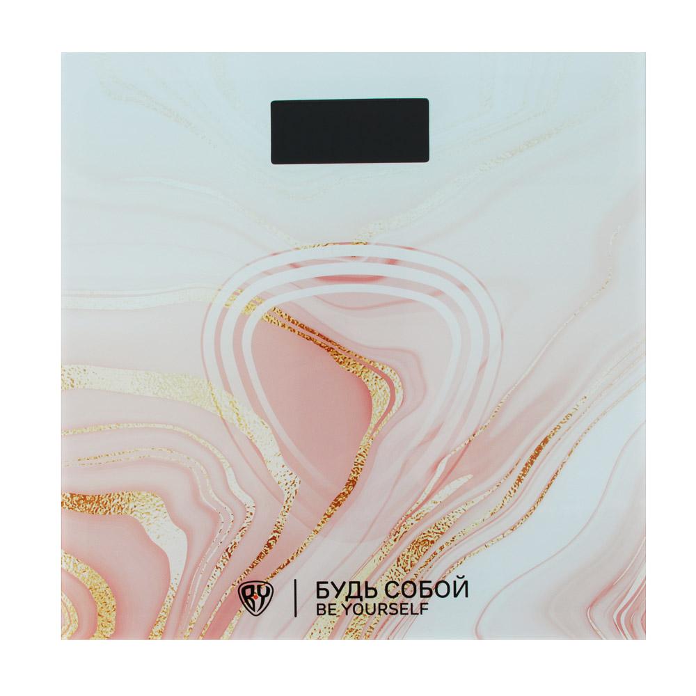 """Весы напольные электрон., ЖК-дисплей, макс. нагр.до 180кг, 28х28х0,5см,""""Вечный мотиватор"""""""