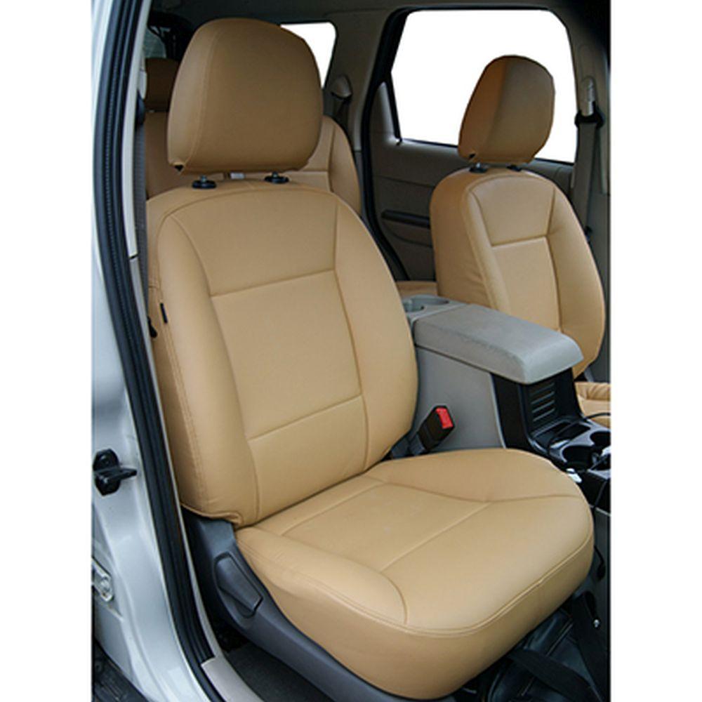 NEW GALAXY Чехлы автомобильные универ. 15 пр., экокожа с перфорацией, Airbag, Beige