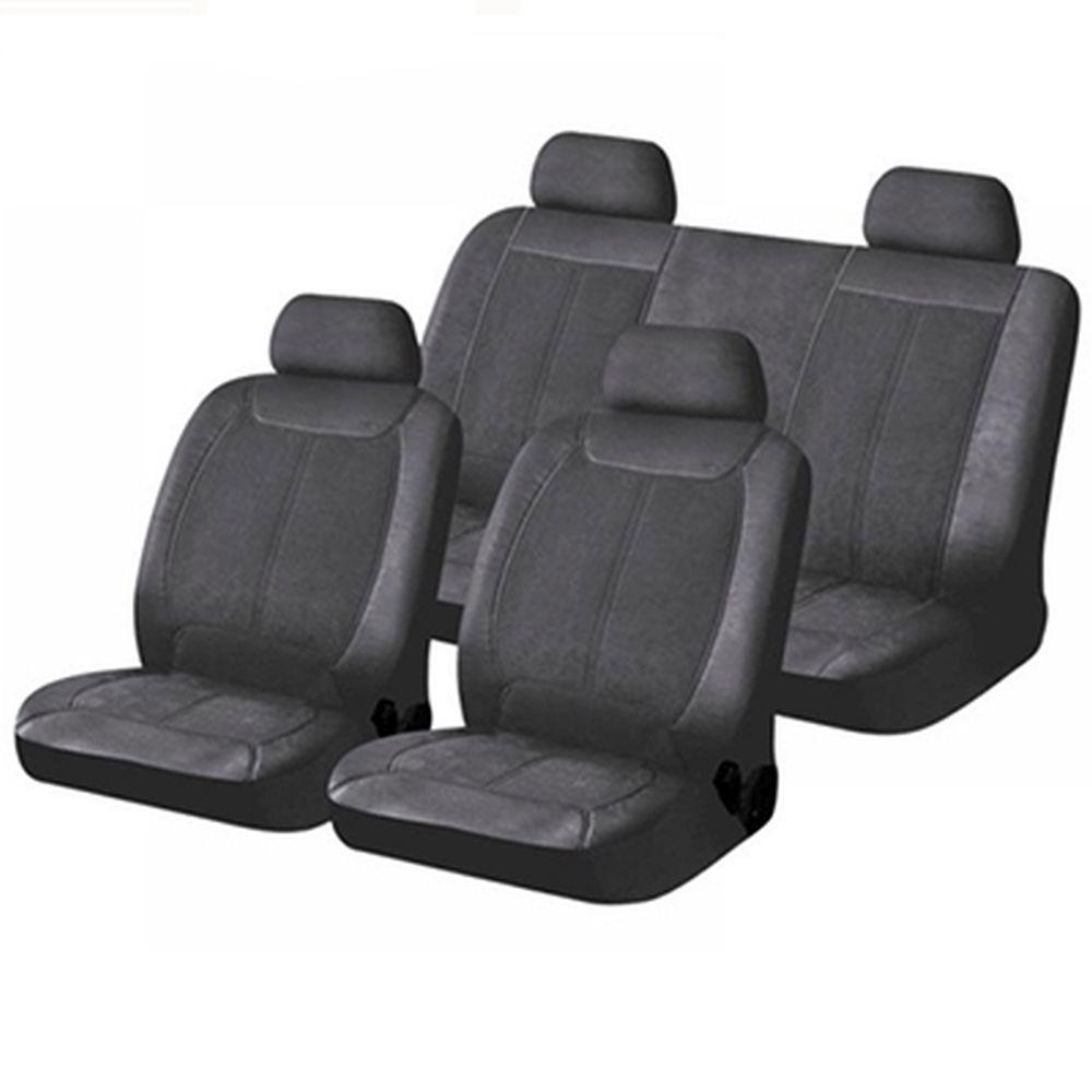 NEW GALAXY Чехлы автомобильные универ. 15 пр., экокожа и алькантара, Airbag, «Хелен»