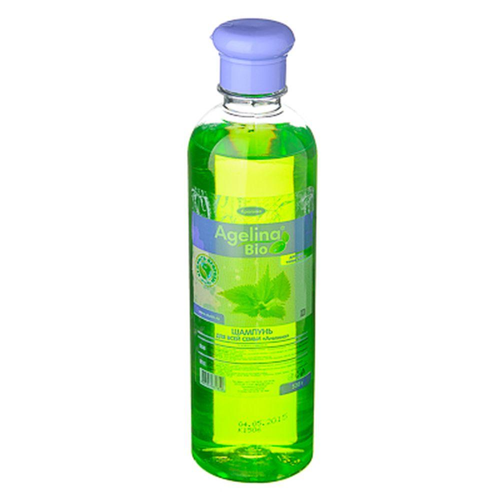 Шампунь Agelina Bio, 520гр, крапива, п/б