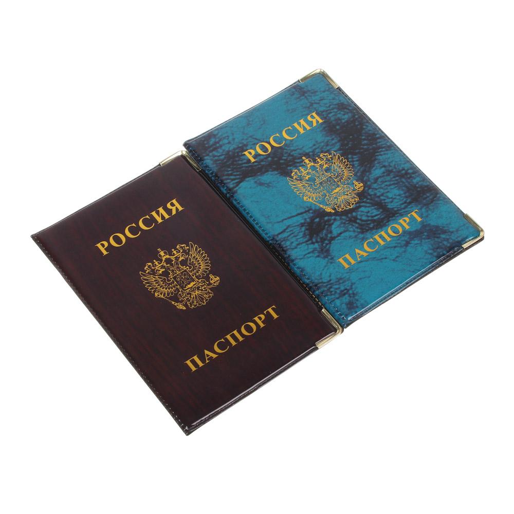 PAVO Обложка для паспорта 9,3х13,4см, ПВХ, 2 цвета, арт.P2015-21