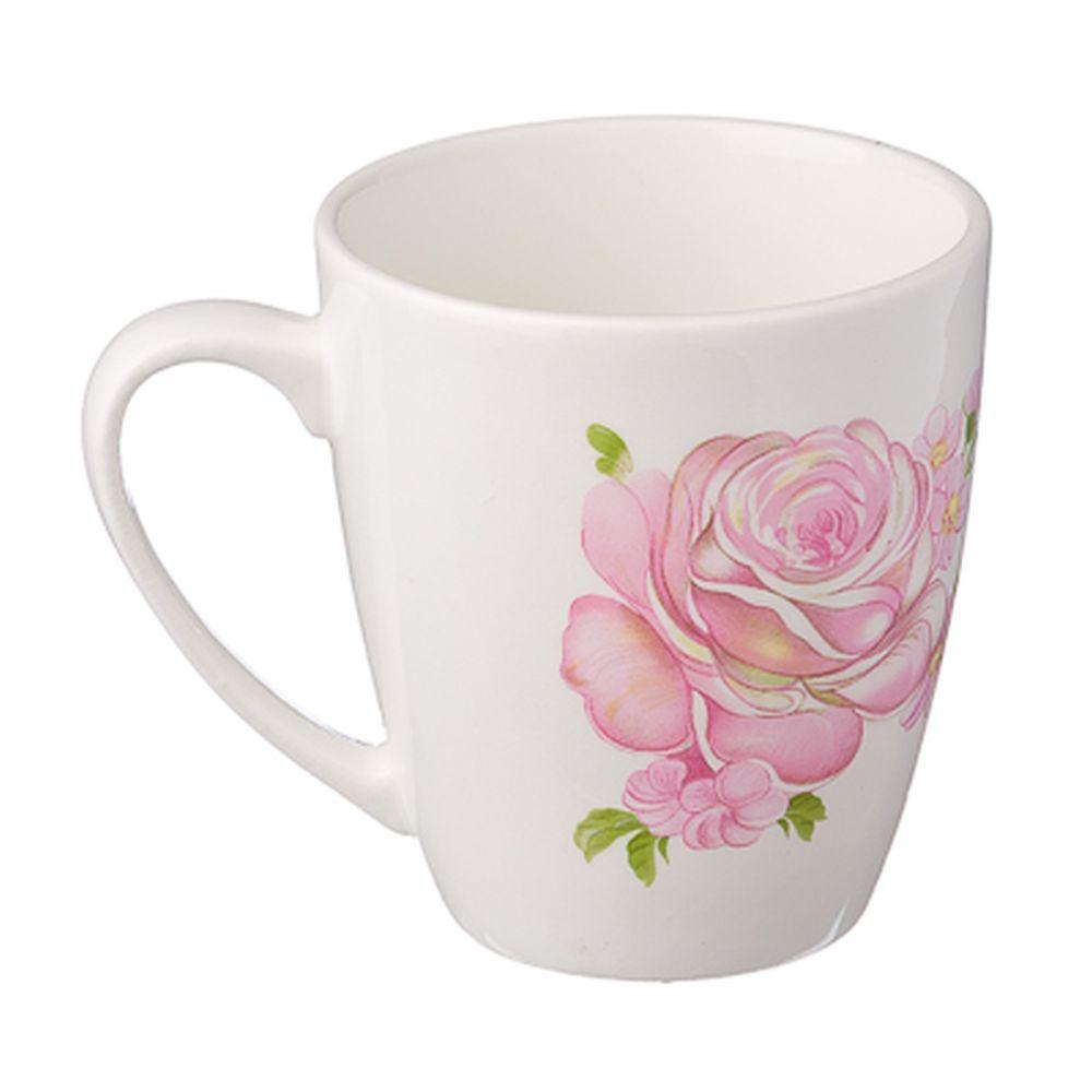 Розовые розы Кружка 220мл, фаянс, 0178