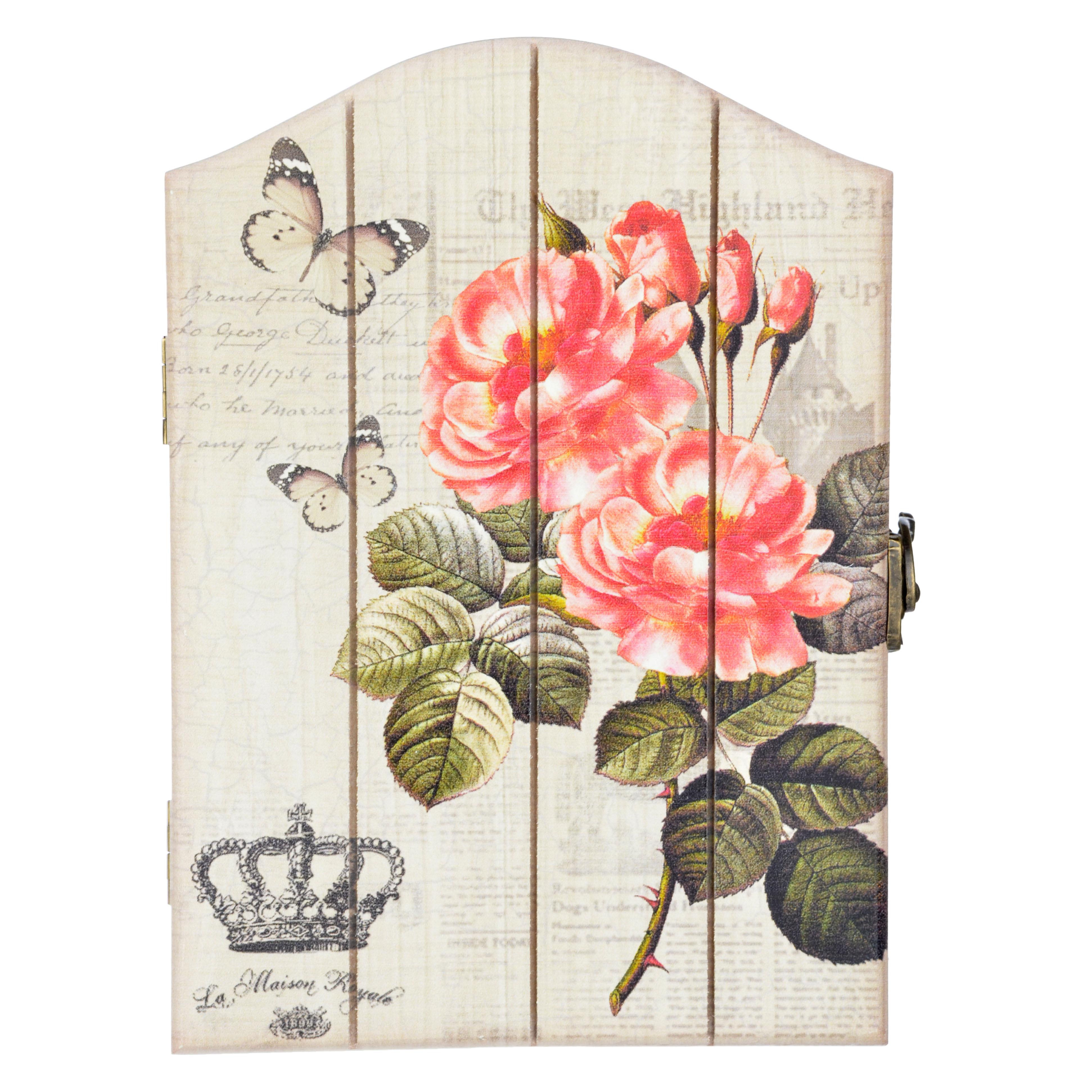 """LA DECOR Ключница """"Ветка розы"""", МДФ, 22,5х16х5,2см"""